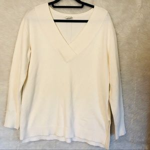 Anthropologie Long Sleeve Off White Sweater Medium